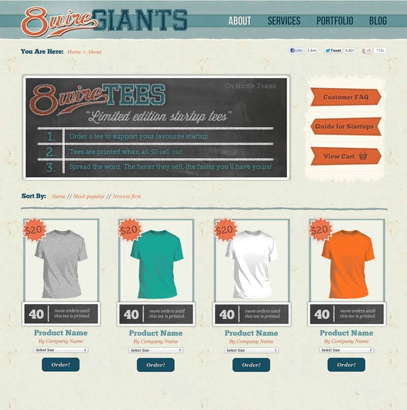 8Wire Giants Web Design