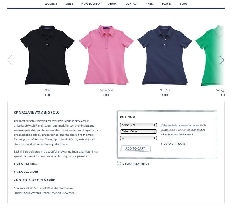 KP MacLane Web Design