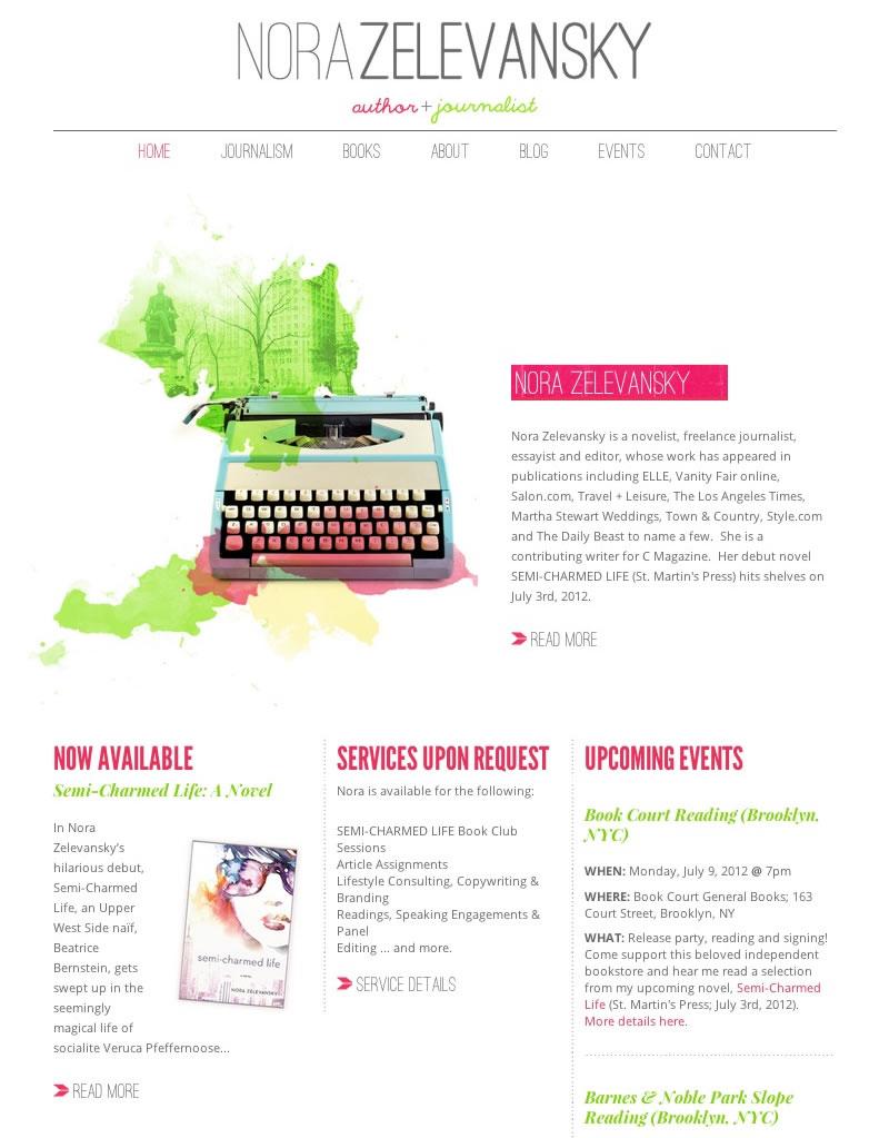 Nora Zelevansky Web Design