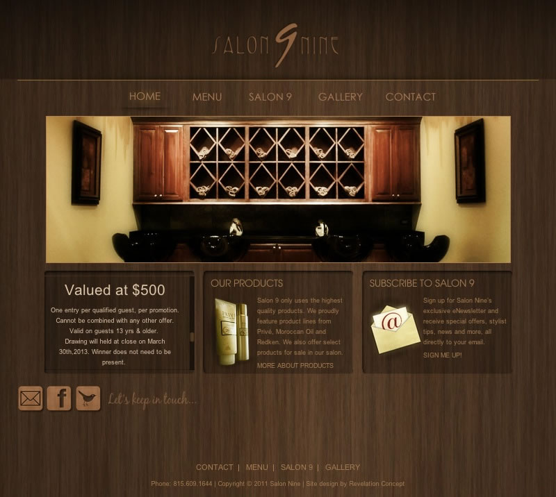 Salon 9 Web Design