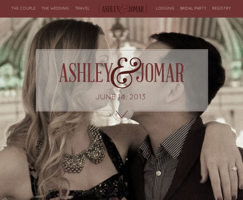 Web Design - Ashley and Jomar