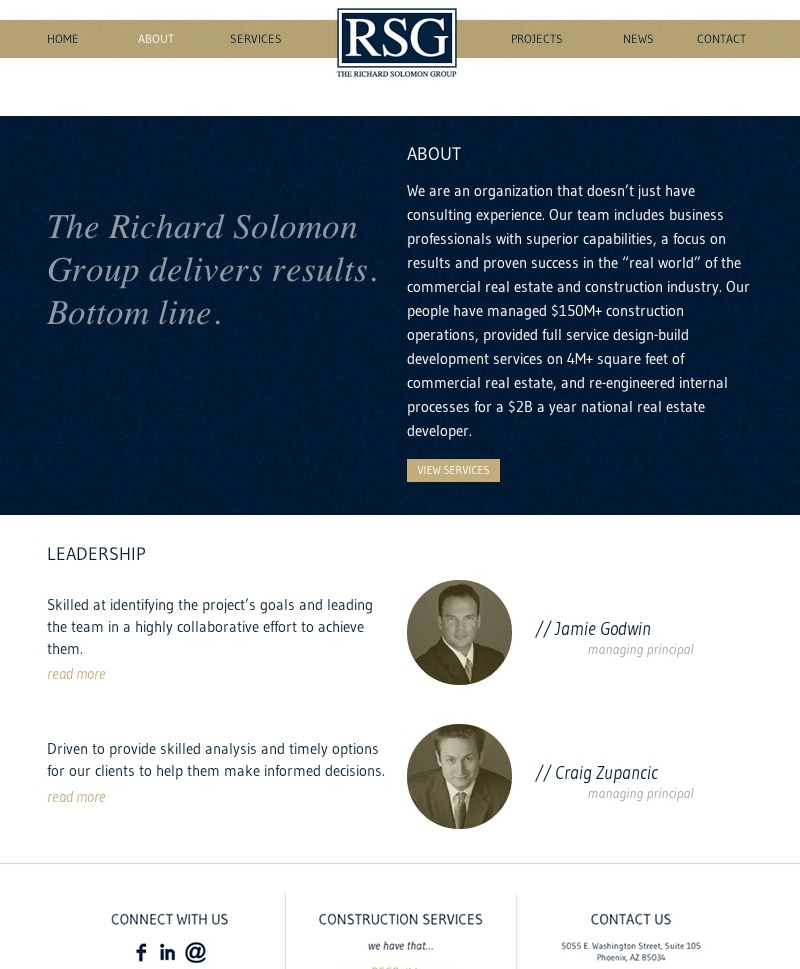 Web Design Richard Solomon Group