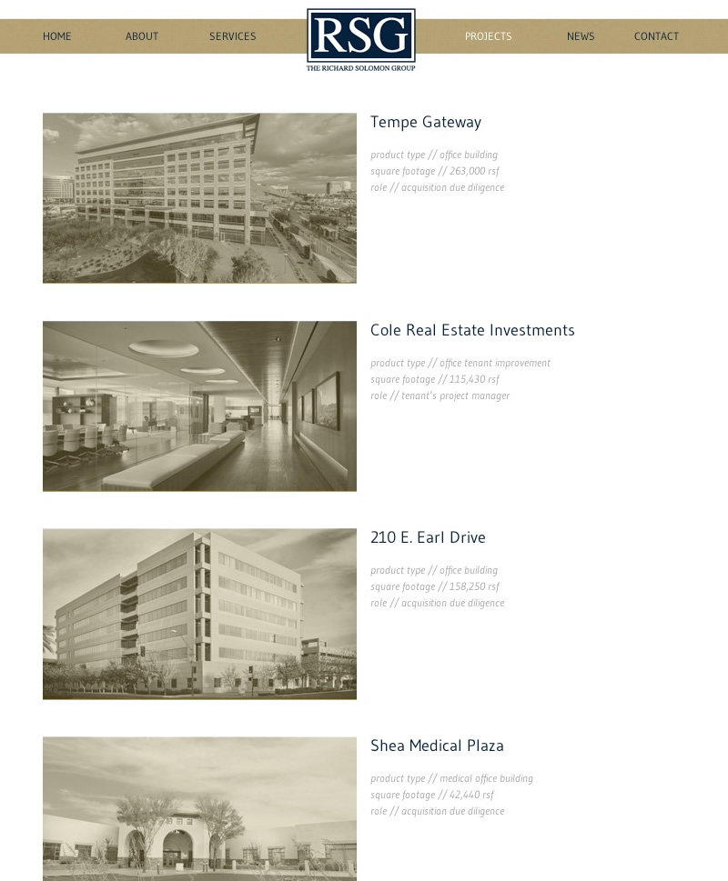 Web Design Richard Solomon Group
