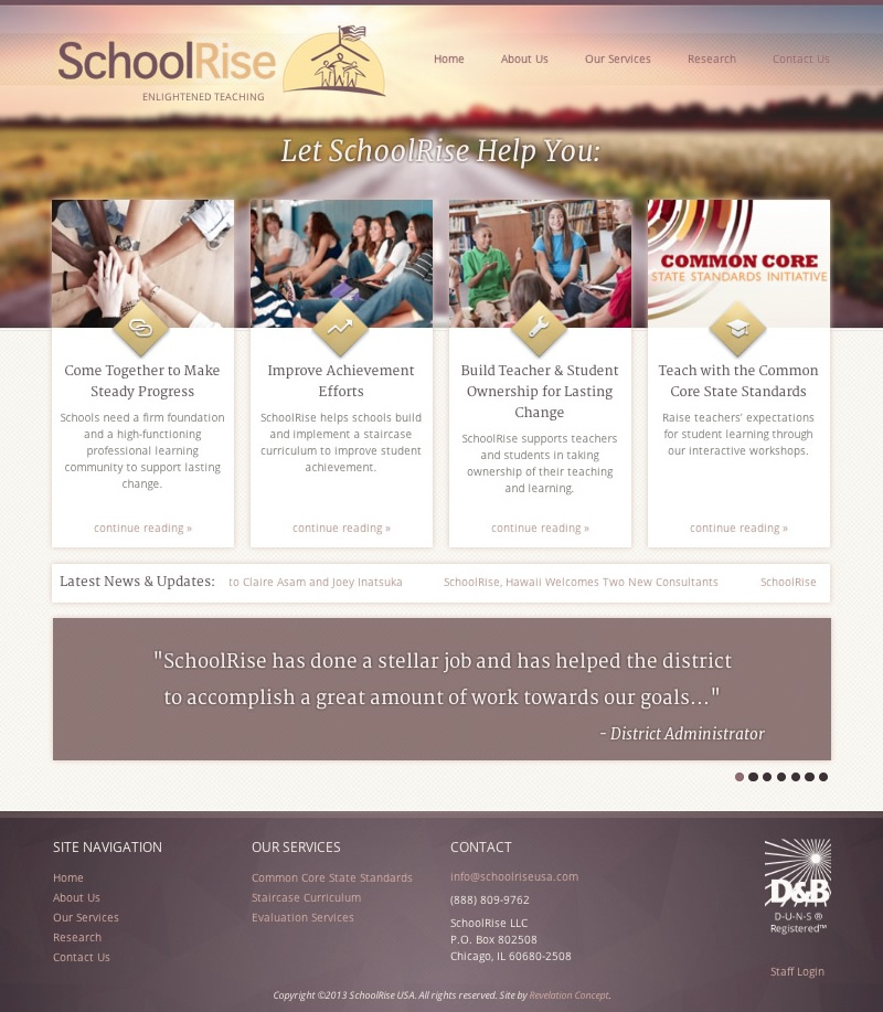 Web Design and Development SchoolRise USA