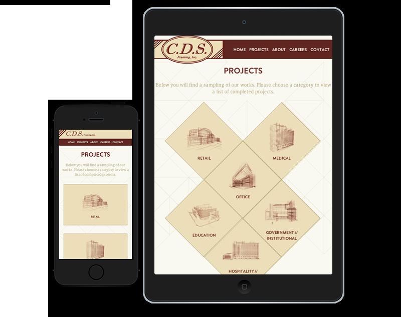 CDS Framing Web Design