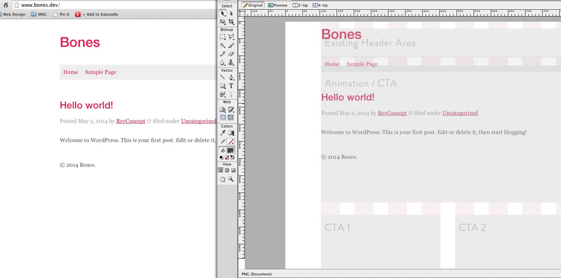 browser wireframe